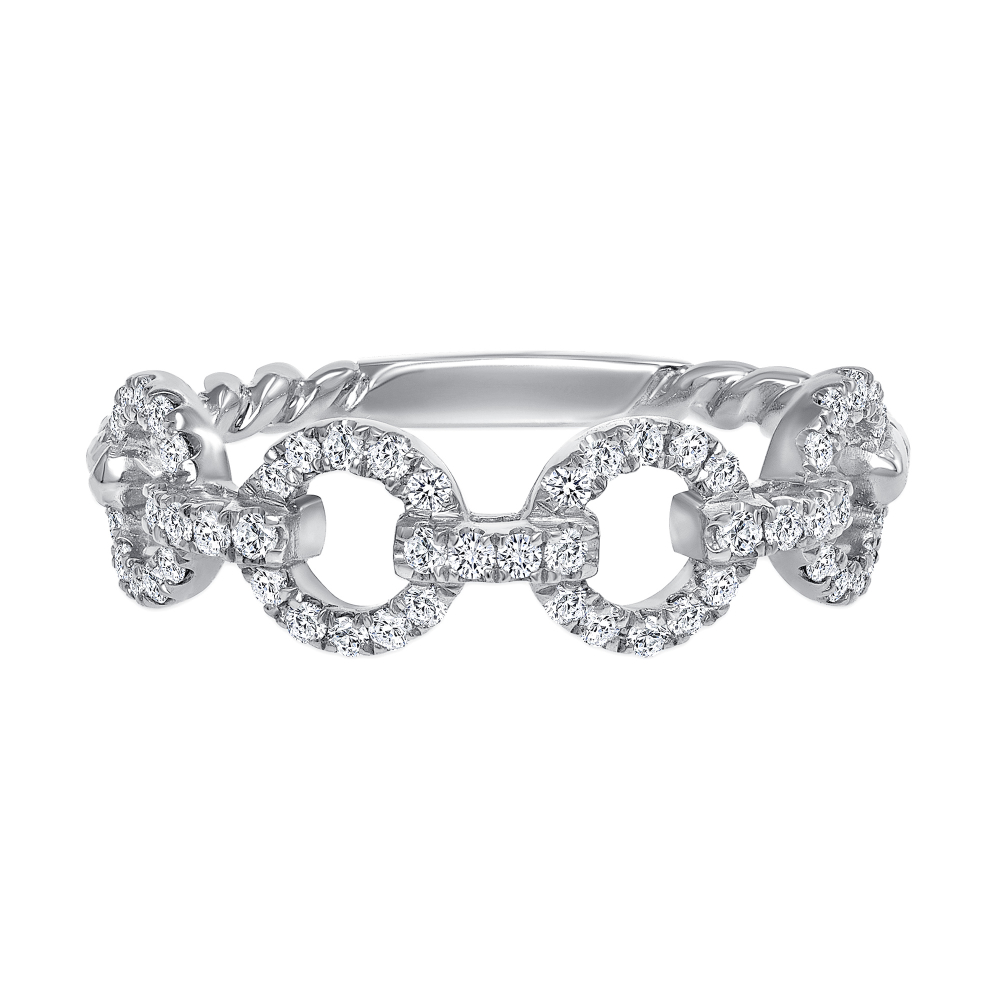 diamond chain link ring | diamond link ring