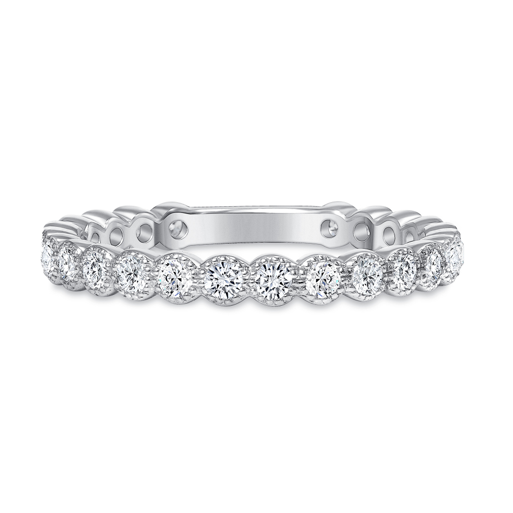 diamond stackable wedding ring