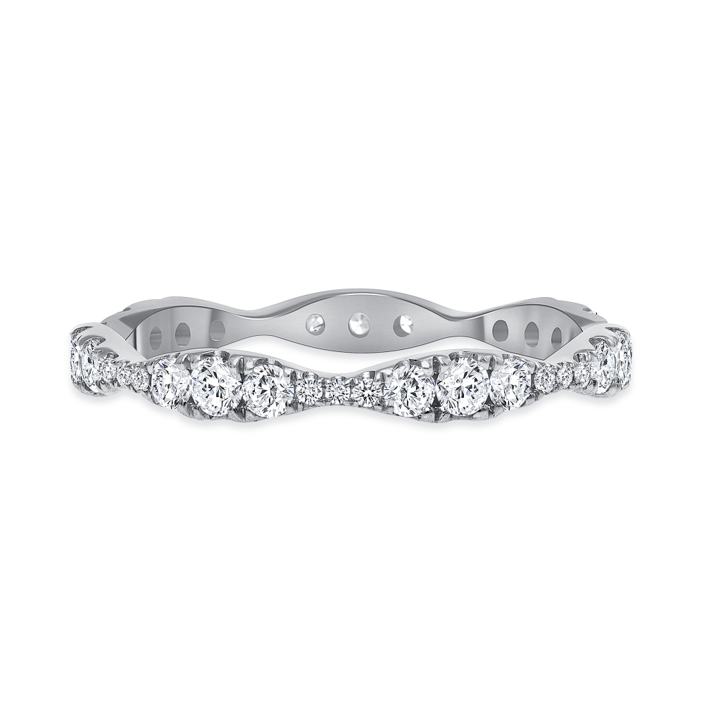 wave wedding ring narrow
