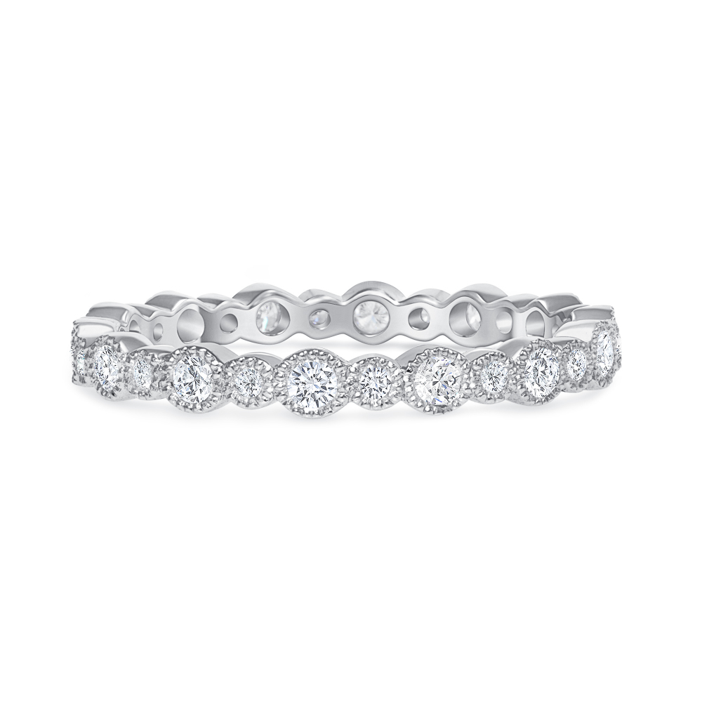 womens white gold stackable wedding ring