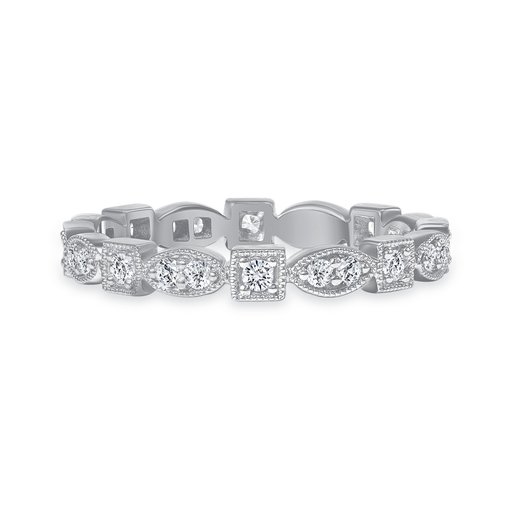 fancy wedding ring white gold