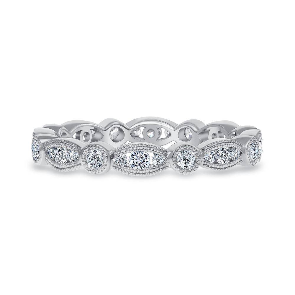 vintage diamond band ring white gold