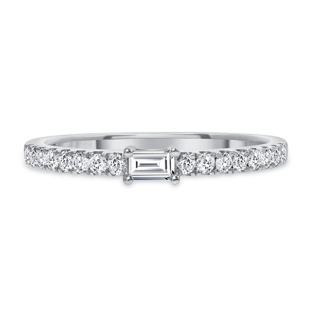 white gold baguette diamond ring