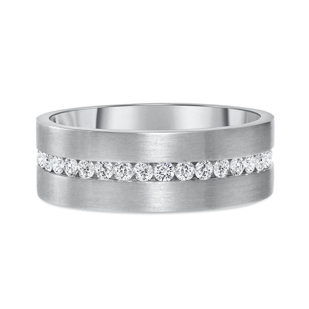 1 carat diamond eternity band white gold