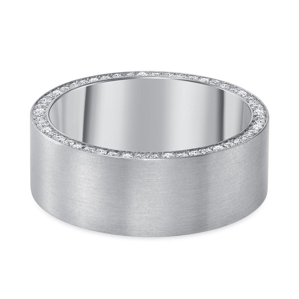 white gold plain diamond band
