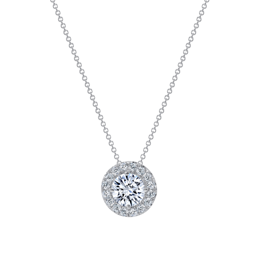 round diamond halo pendant necklace | halo diamond pendant necklace | halo diamond pendant