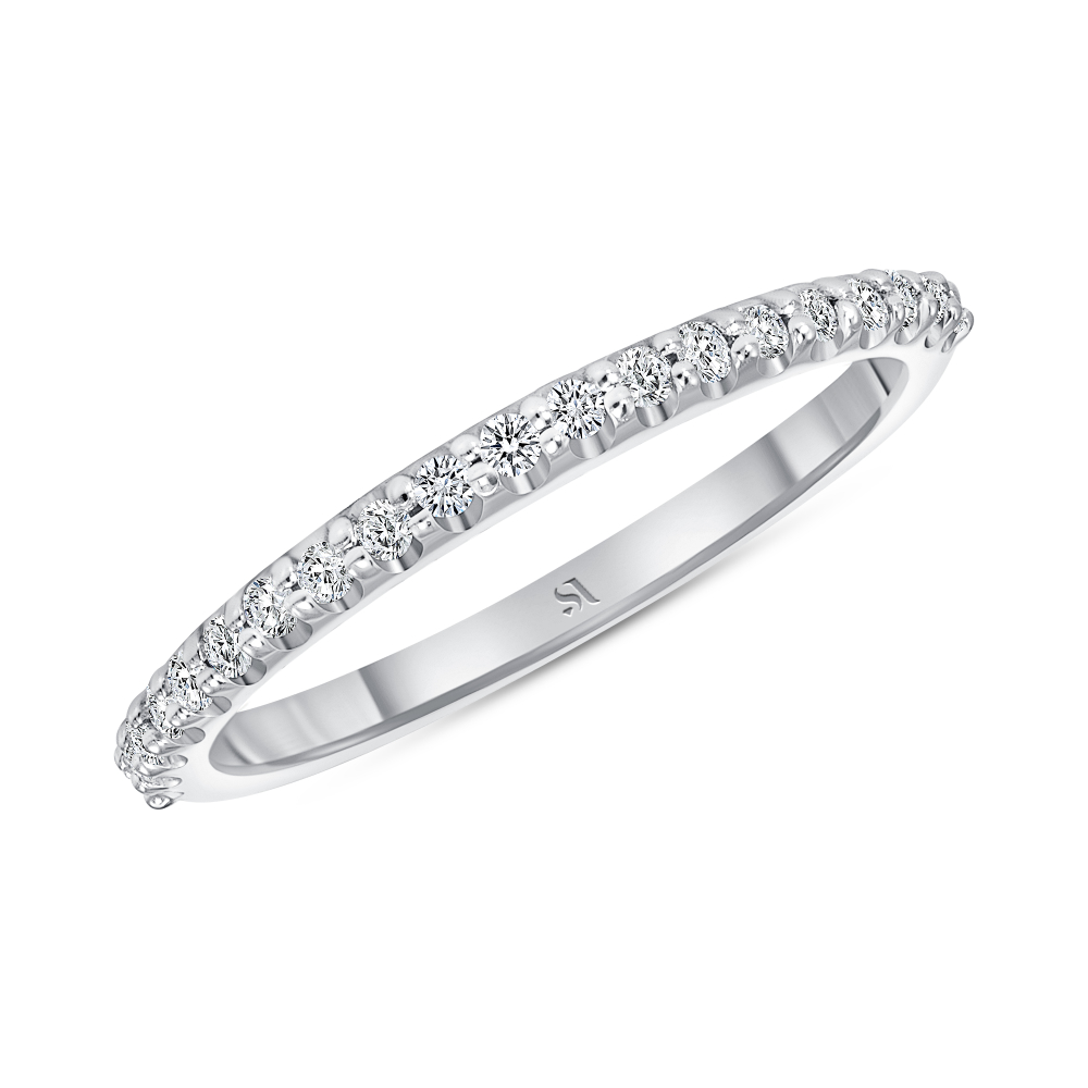 dainty diamond white gold band | Sabrina A Inc