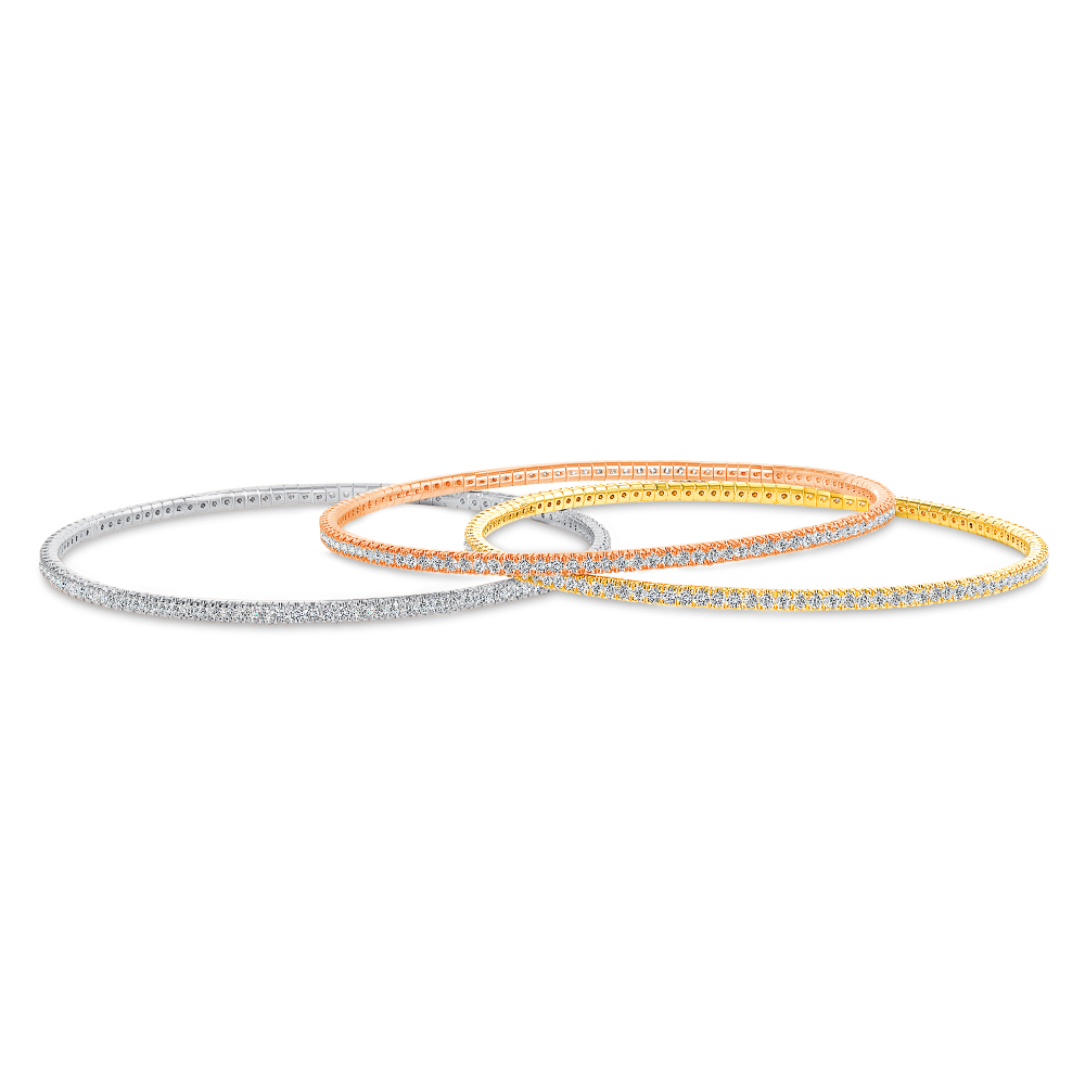 thin diamond bangles | thin gold bangle with diamonds