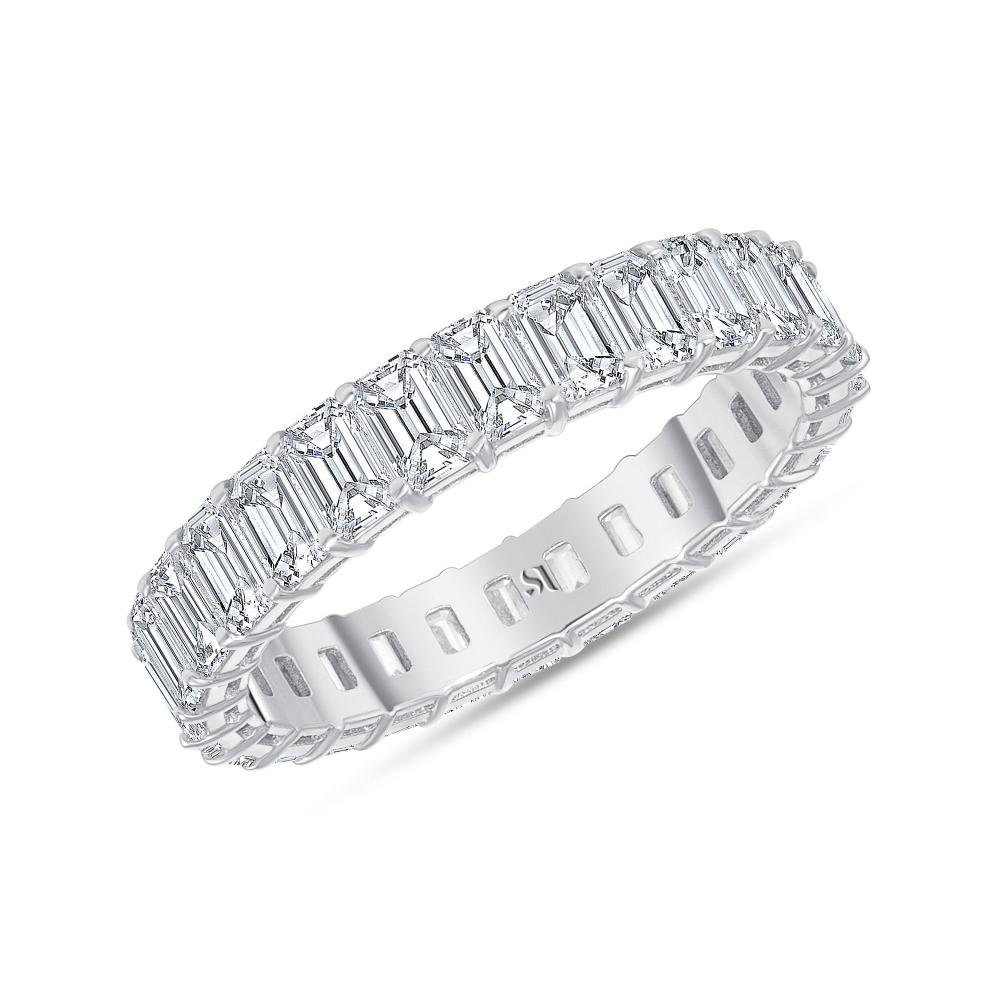 petite diamond band white gold