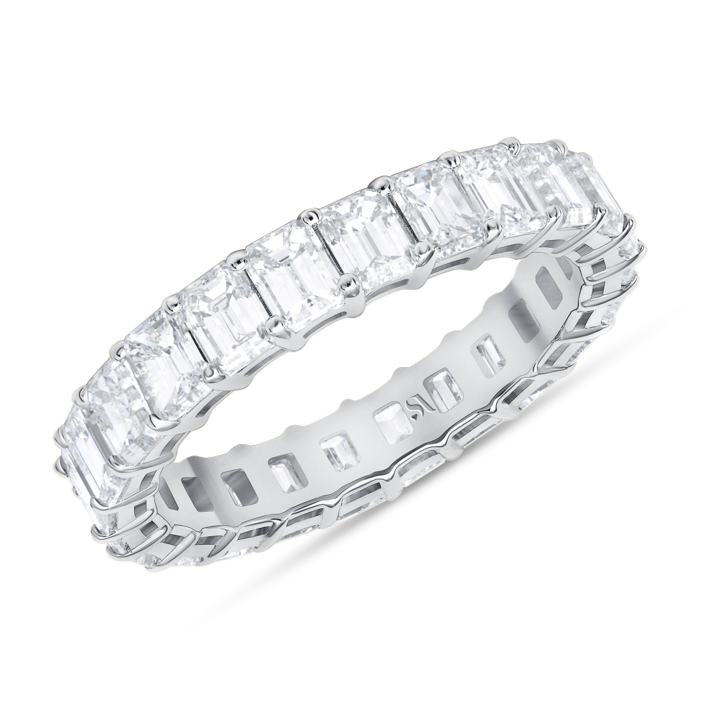 Diamond eternity cut band white gold