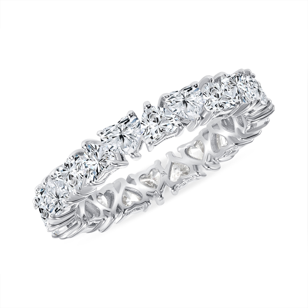 Heart you for eternity band white gold