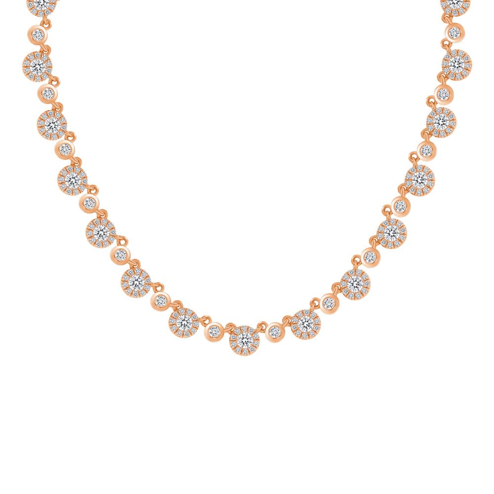 flower necklace rose gold