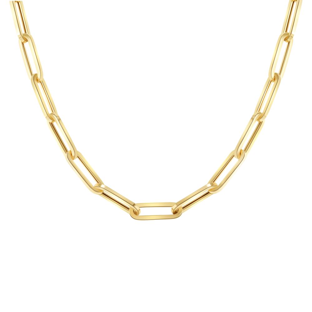 Gold link necklace gold