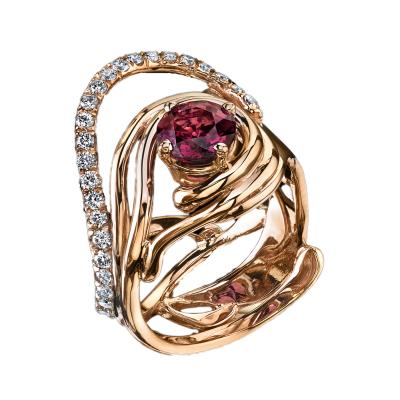 Garnet Rip Tide Ring