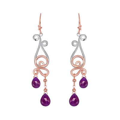 Dancing Rubies Earrings