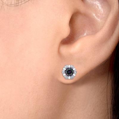 Sterling Silver Flower Earring
