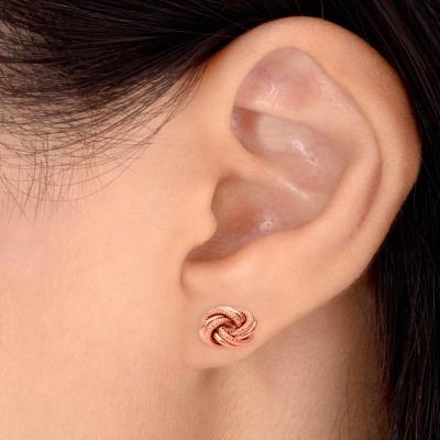 Sterling Silver Love Knot Stud Earring