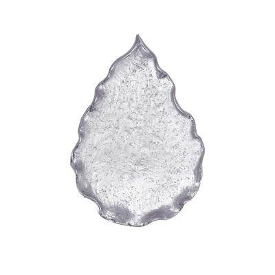 Sterling Silver Hammered Drop Leave Pendant