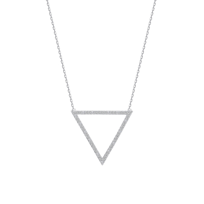 Sterling Silver Medium Size Triangle