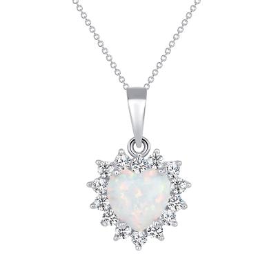 925 Sterling Silver Opal Pendant