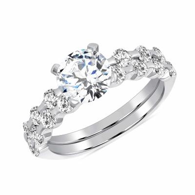 Sterling Silver 2 Piece Wedding Ring