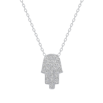 Sterling Silver Hamsa Necklace