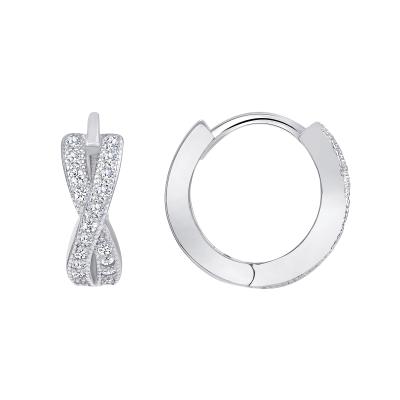 Sterling Silver Infinity Hoop Earings Endless