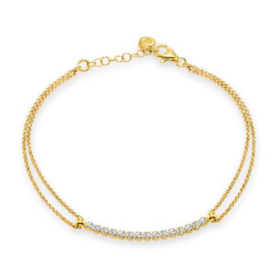 Sterling Silver 2 Line Rolo Bracelet