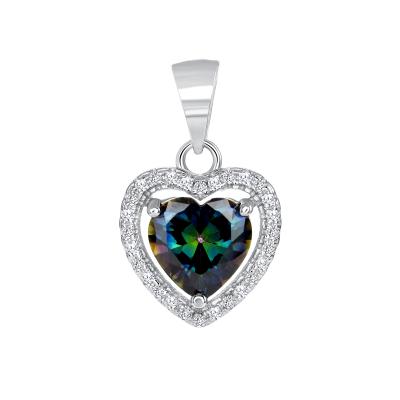 Sterling Silver Heart Mystic Topaz Pendant
