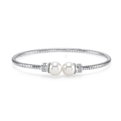 Sterling Silver Endless Pearl Bracelet