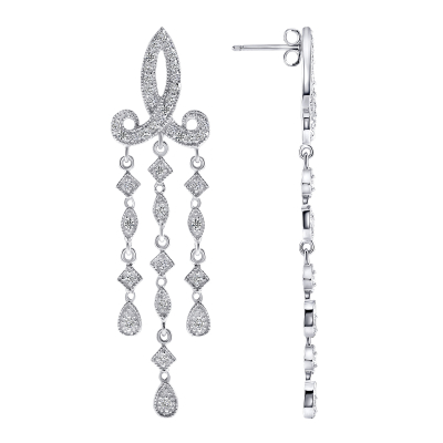 Sterling Silver Micro Pave Chandelier