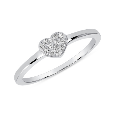 Sterling Silver Dainty Heart Ring
