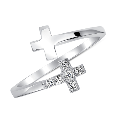 Sterling Silver Endless Crown Ring