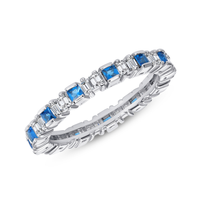 Sterling Silver Eternity Style Baguette Ring
