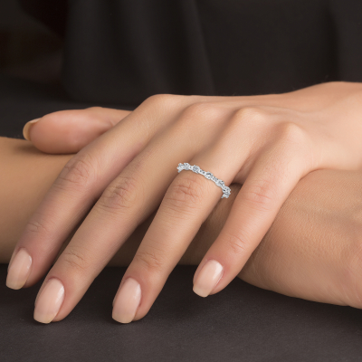 Sterling Silver Style Baguette Ring