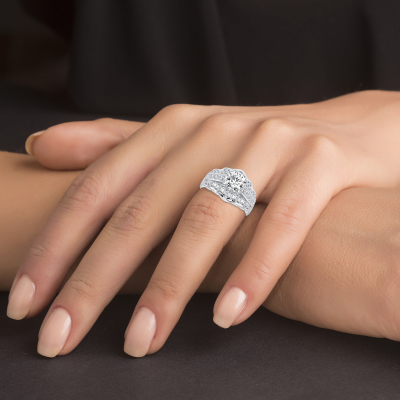Sterling Silver Round Solitaire Ring