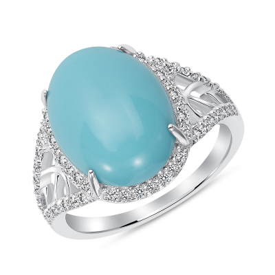 Sterling Silver Turquoise Stone Ring