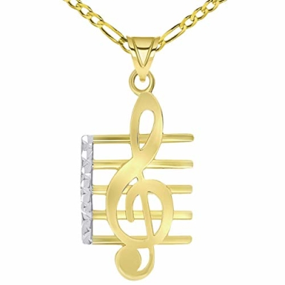 music note symbol charm pendant