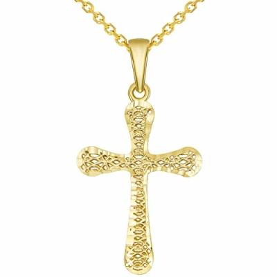 3d christian cross pendant
