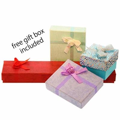 Rose Gold Traditional Religious Plain Cross Pendant gift box