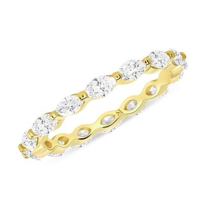 marquise eternity band yellow gold