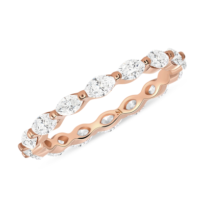 marquise eternity band rose gold