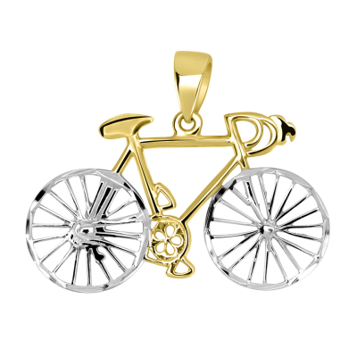 Bicycle Pendant Cuban Chain Necklace