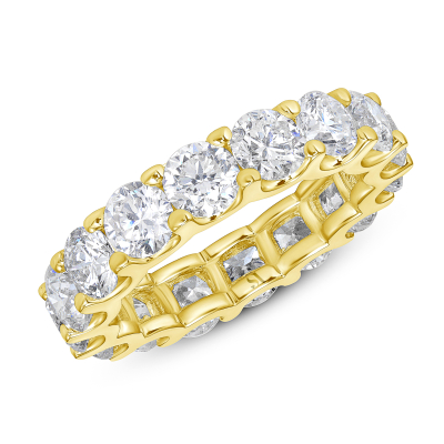 eternity band with round diamonds