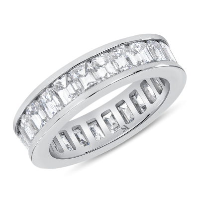 Channel Setting Emerald Eternity Band | Sabrina A Inc