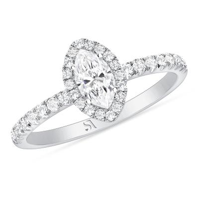 Marquise Diamond Halo Ring | Sabrina A Inc