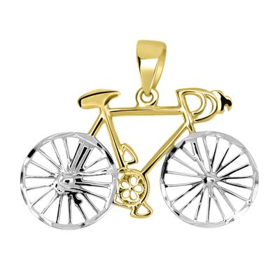 Two-Tone Bicycle Pendant