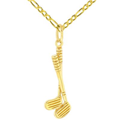 14K Yellow Gold Set of Golf Pendant