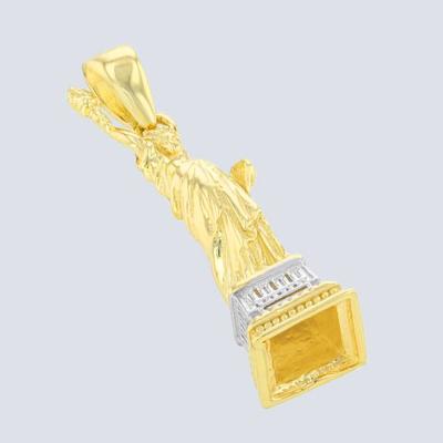 14K Yellow Gold Statue of Liberty Pendant