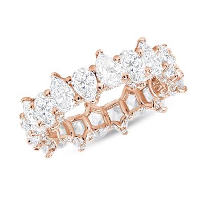 pear shaped diamond rose gold band